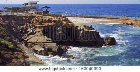 SAN DIEGO,CA - NOVEMBER 02:Day along coastal Oceanside a tourist destination in San Diego,California, USA on November 02,2016