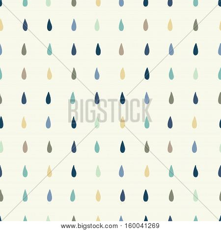 Vector rain drops background. Seamless pattern can be used for wallpaper pattern fills web page background surface textures.