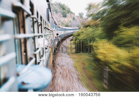 Travel by train in asia,  long train