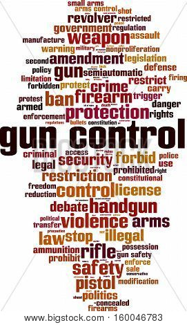Gun control word cloud concept. Vector illustration