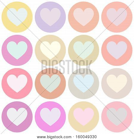 seamless pattern. EPS 10 vector illustration. used for printing websites design decoration interior fabrics etc. different colorful heart suit poker