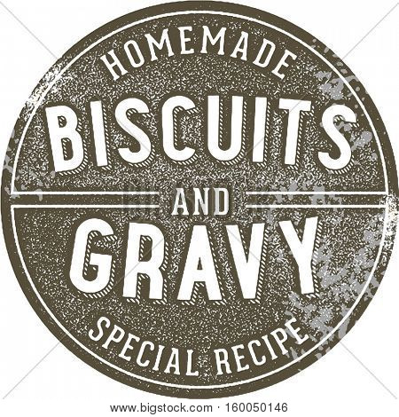 Vintage Biscuits and Gravy Restaurant Sign