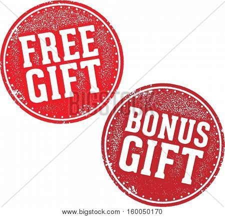 Free Bonus Gift Promotional Offer Stamp