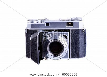 PANAMA PANAMA - JULY 30 2015: Retina was the name of a long-running series of German-built Kodak 35mm cameras produced from 1936 until 1969