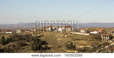 Edge of town Kavadarci Macedonia. Tikvesh wine region. The heart of Macedonia wine industry.