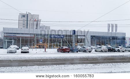 Building Of Multibrand Car Selling And Service Center