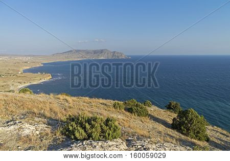Bay Kapsel. View from the top of Cape Alchak. Crimea September