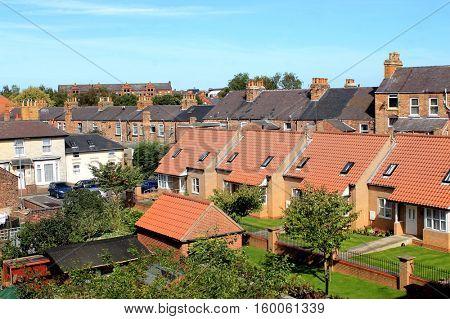 Modern housing estate in Scarborough, England.