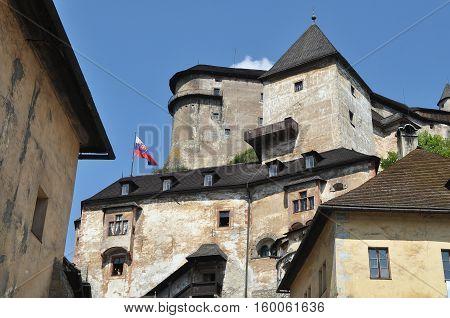The Famous Oravsky Podzamok (Orava Castle) in Slovakia. The Orava Castle is the one of the most beautiful castle in Slovakia.