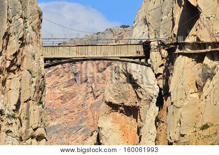 Caminito del Rey (King's Little Path) in Malaga, Spain