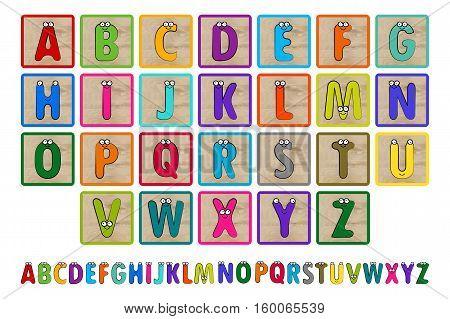 Letter Blocks. Vector Illustration.