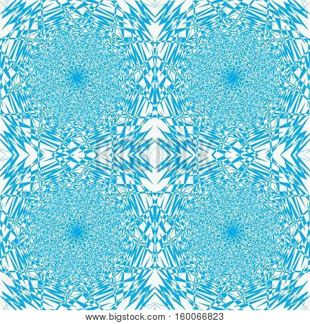 Vector a seamless example of blue and white color pieces mozayka it is broken splinters