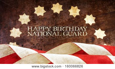 Happy Birthday National Guard. Stars and Stripes