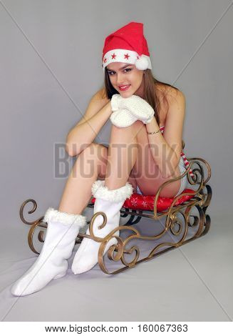 young girl model sankazh clothes Snow Maiden