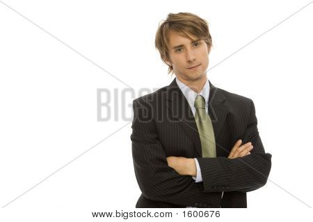 Businessman Crosses Arms