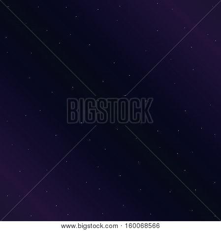 Starlight night. Vector illustration of stellar sky in violet colors.