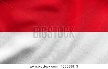 Flag Of Indonesia, Monaco, Hesse, Fabric Texture