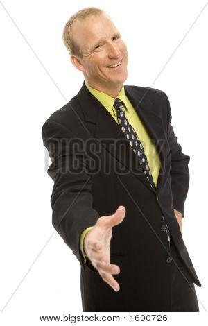 Businessman Gestures A Handshake