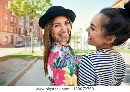 Trendy Young Woman With A Lovely Smile