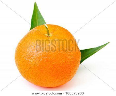fresh orange fruit mandarin isolated on white