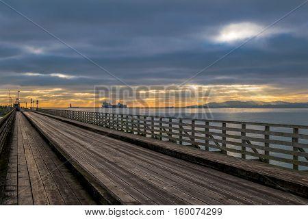 Wooden bridge of Bull Island, Dublin Bay, Dublin, Ireland