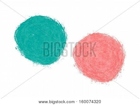 Abstract blue and pink spot. Drawing brush. Isolated Blob.