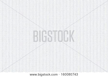 Guilloche seamless background. Monochrome guilloche texture with waves. For certificate voucher banknote money design currency note check ticket reward etc.