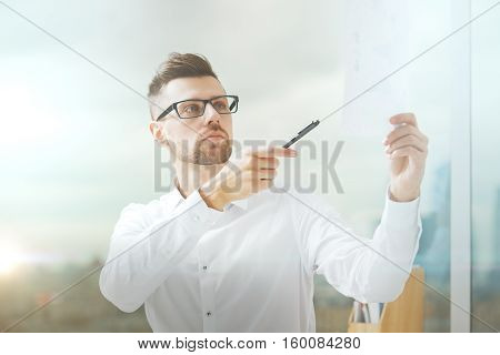 Handsome Businessman With Document