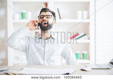 Man At Work Talking On Phone