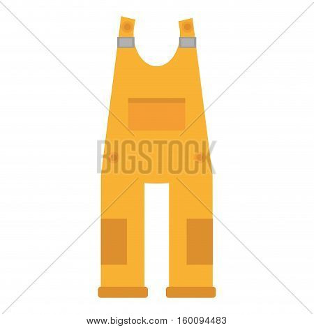 yellow overall uniform worker protective vector illustration eps 10