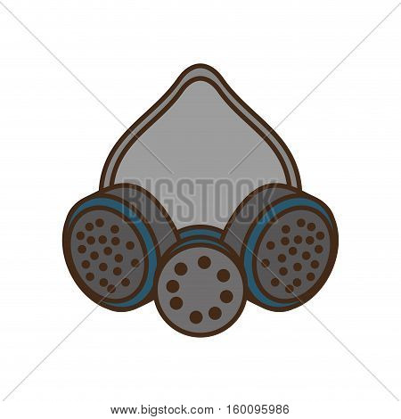 cartoon mask and respirator protective equipment design vector illustration eps 10