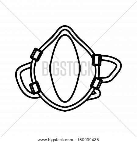 outline breathing mask respiration protection vector illustration eps 10