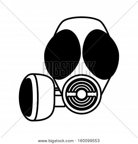 outline gas mask respiration protective vector illustration eps 10