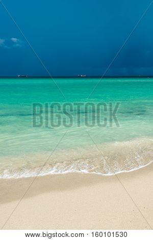 Tropical storm over Miami Beach ocean. USA