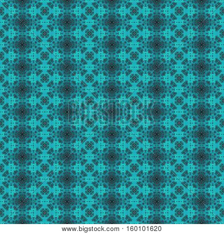 Turquoise seamless repeating repetitive ornate design pattern poster