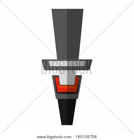 cartoon seat belt drive safe shadow vector illustration eps 10