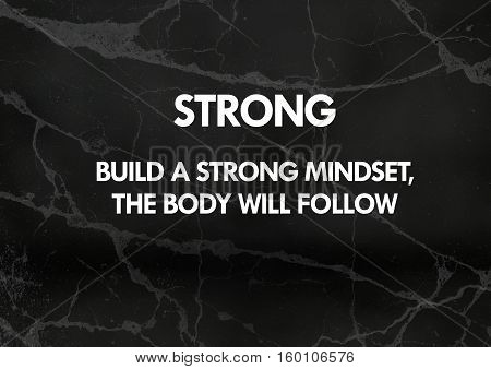 Fitness motivation quotes: Build a strong mindset, the body will follow