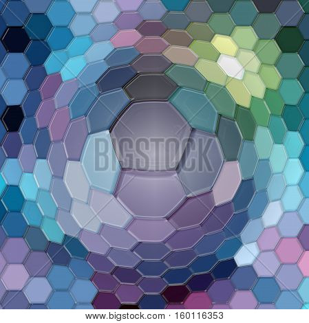 Abstract background of the dark gradient with visual cubism, pinch, lighting and plastic wrap effects