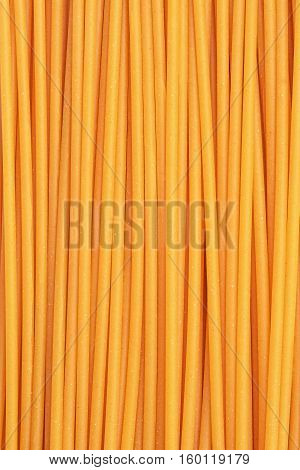 spaghetti bucatini pasta texture detail vertical closeup