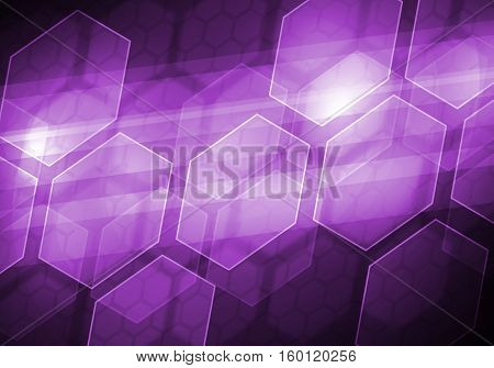 Abstract connection structure as connection concept on color background