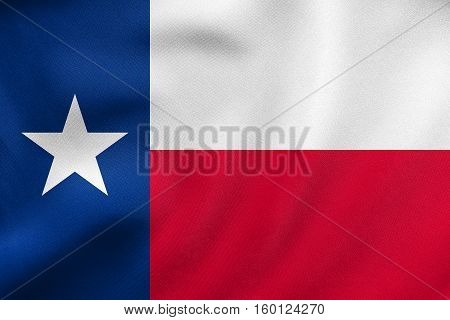 Flag Of Texas Waving, Real Fabric Texture