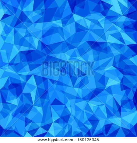 Abstract blue vector mosaic triangles pattern. Vector pattern with paper texture. Vector abstract background