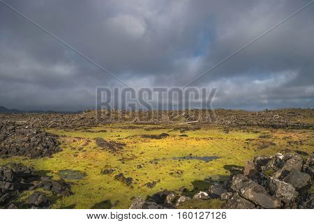 Icelandic Colorful And Wild Landscape At Summer