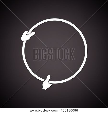Icon Of Hand Holding Photography Reflector