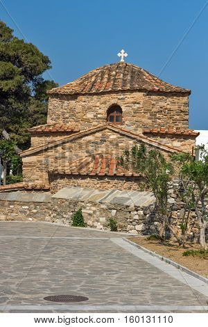 Antique Church of Panagia Ekatontapiliani in Parikia, Paros island, Cyclades, Greece