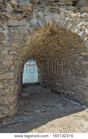Inside view of Venetian fortress in Naoussa town, Paros island, Cyclades, Greece