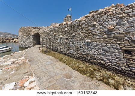 Venetian fortress and port in Naoussa town, Paros island, Cyclades, Greece