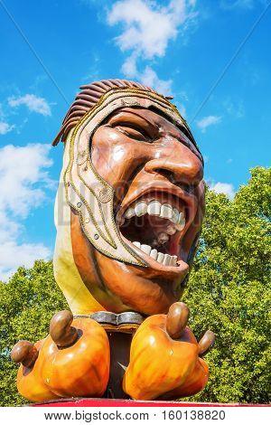 Giant Sculptures In The Parc De La Villette, Paris, France