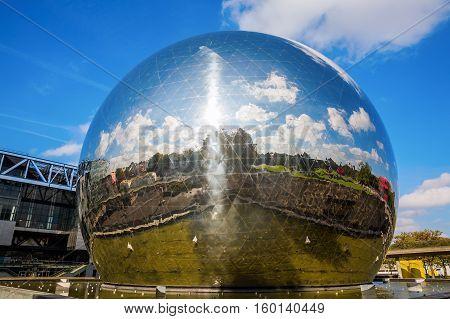 La Geode In The Parc De La Villette, Paris, France