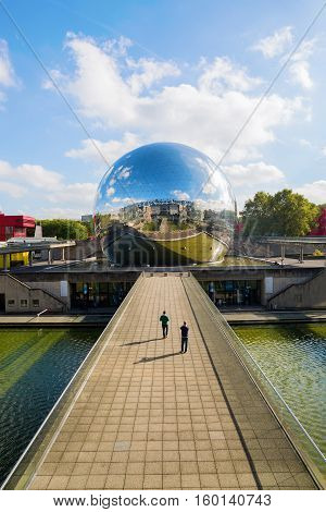 La Geode In The Parc De La Villette, Paris, France